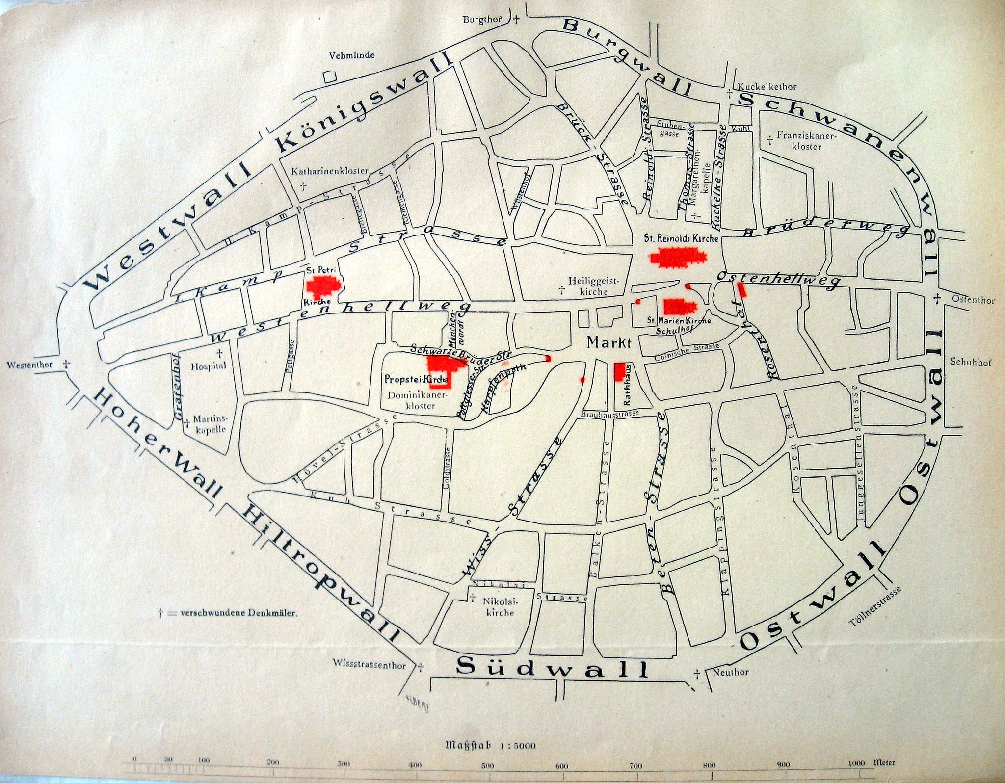 Dortmund, Germany, City Map 1894