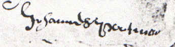 Johannes Pootman's September 28, 1661, signature
